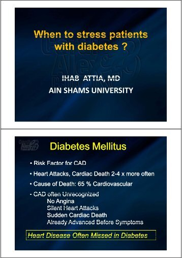 When to stress patients When to stress patients with diabetes ...