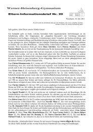Brief 20: Juli 2011 - Werner-Heisenberg-Gymnasium