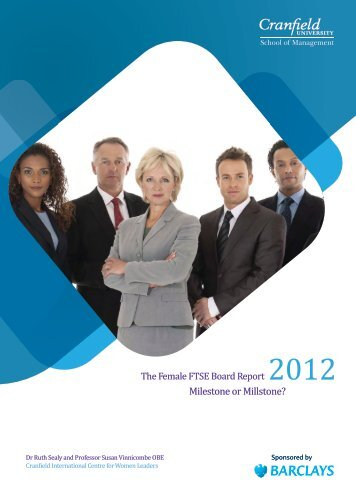 The Female FTSE Board Report 2012 - Women on Boards