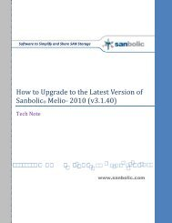How to Upgrade Sanbolic SAN Software to Melio 2010