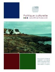 MRC Charlevoix-Est - Ministère de la Culture et des Communications