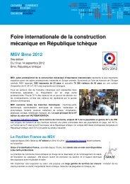 Foire internationale de la construction mécanique en République ...