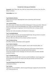 Fachschafts Protokoll vom 06.06.11