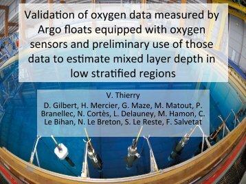 Valida,on of oxygen data measured by Argo floats ... - Euro-Argo
