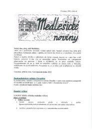 Medlešické noviny prosinec 2012 číslo 6. - M klub Medlešice