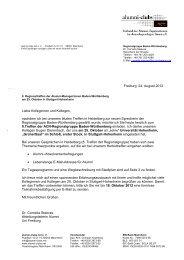 Einladung, Programm und Wegbeschreibung - alumni-clubs.net