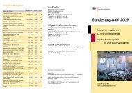 Bundestagswahl 2009 - Der Bundeswahlleiter