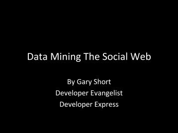 Data Mining The Social Web - ESUG