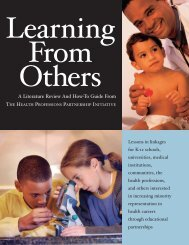 Learning From Others - AAMC's member profile