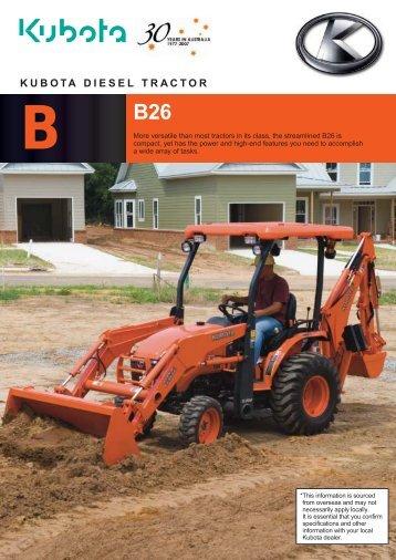 kubota diesel tractor b b26