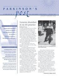 P a r k i n s o n ' s - Northwest Parkinson's Foundation