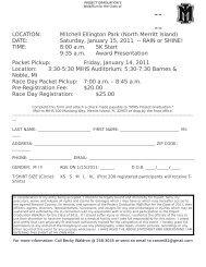 LOCATION: Mitchell Ellington Park (North Merritt Island) DATE ...