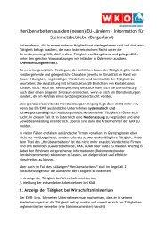 Herüberarbeiten aus den (neuen) EU-Ländern – Information für ...