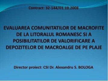 EVALUAREA COMUNITATILOR DE MACROFITE DE LA ...