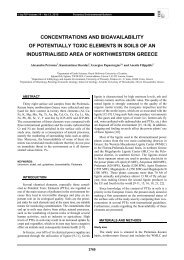 concentrations and bioavailability of potentially toxic elements in ...
