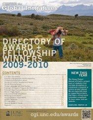 directory of award + fellowship winners 2009-2010 - Center for ...