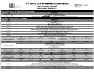 Programme and Panels Details - Faculty of Law - National University ...