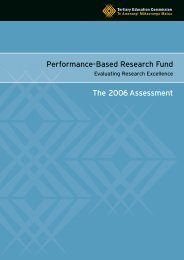 2006 PBRF Evaluating Research Excellence - Tertiary Education ...