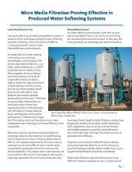 Micro Media Filtration Proving Effective in Produced Water ... - Eco-Tec