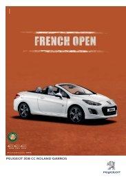 Caract. técnicas 308CC Roland Garros - Peugeot