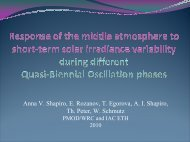 Response of the middle atmosphere to short-term solar ... - GFZ