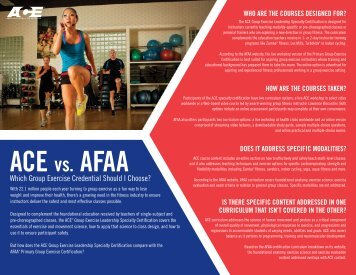 ACE vs. AFAA - American Council on Exercise