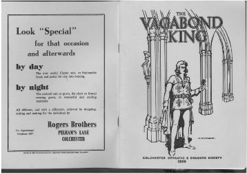 The Vagabond King 1956 - Colchester Operatic Society