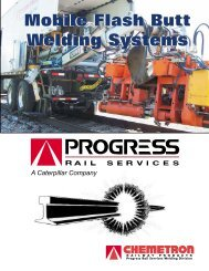 Mobile Flash Butt Welding Systems - Progress Rail Services