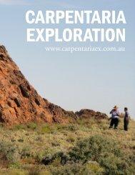 Carpentaria Exploration - The International Resource Journal