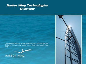 harbor wing technologies, inc. - Marine Technology Society