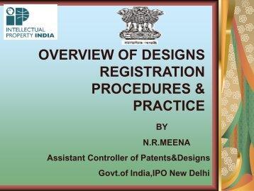 overview of designs registration procedures & practice