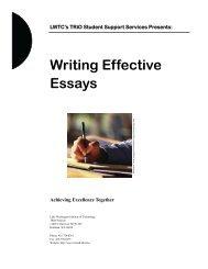 Writing Effective Essays - Lake Washington Institute of Technology