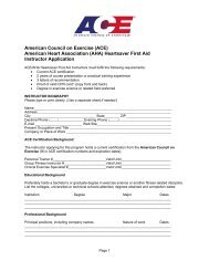 (AHA) Heartsaver First Aid Instructor Application - American Council ...