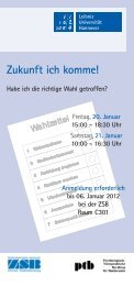 Workshop-Flyer 2012 - Zentrale Studienberatung der Leibniz ...