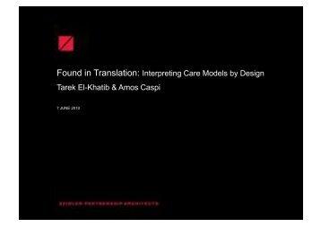 Found in Translation: Interpreting Care Models by Design Tarek El ...