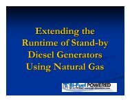 Extending the Runtime of Stand-by Diesel Generators Using Natural ...
