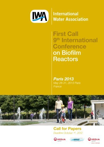 First Call 9th International Conference on Biofilm Reactors - IWA