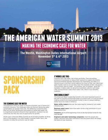 sponsorship pack - American Water Summit