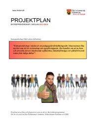Projektplan Entreprenörskap i skolan (pdf) - Östhammars kommun