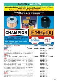 KR Ölfilter HONDA CB 500 Cup 98-99  …  Oil filter