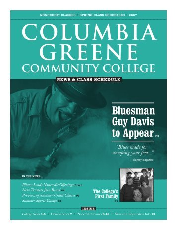 March 2007 Newsletter - Columbia-Greene Community College