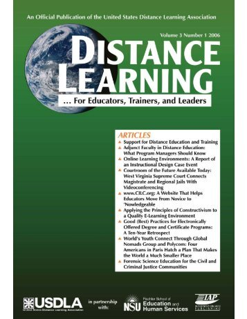 Distance Learning - United States Distance Learning Association