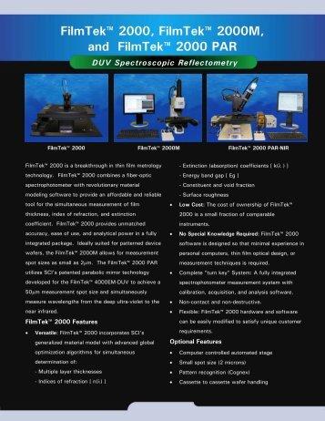 FilmTek 2000 Brochur.. - Scientific Computing International