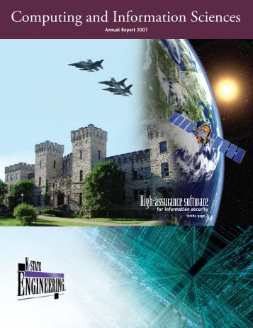 2007 CIS Annual Report - Computing and Information Sciences ...