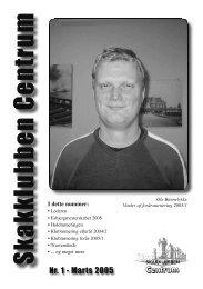 Klubblad nr. 1/2005 - Skakklubben Centrum