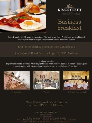 Business Breakfast - Kings Court Prague