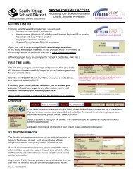 SKYWARD FAMILY ACCESS - South Kitsap School District