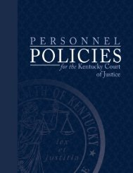 Kentucky Court of Justice Personnel Policies