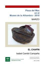 Pieza del Mes en el Museo de la Alhambra - 2010 MARZO EL ...