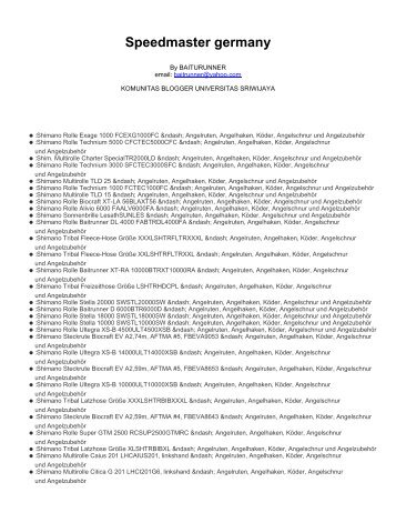 Speedmaster germany - Komunitas Blogger Unsri - Universitas ...